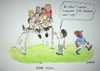 Cartoon: Echte Kerle... (small) by Mario Schuster tagged karikatur,cartoon,schuster,mario,fussball,em,löw,balotelli