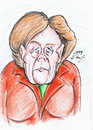 Cartoon: Angela Merkel (small) by DeviantDoodles tagged caricature,politics,famous,chancellor,vip