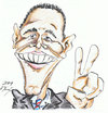 Cartoon: Barrack Obama (small) by DeviantDoodles tagged caricature,politics,famous,president,usa