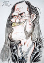 Cartoon: Lemmy (small) by DeviantDoodles tagged caricature,music,famous,metal,rock,singer