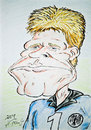 Cartoon: Oliver Kahn (small) by DeviantDoodles tagged caricature,football,soccer,world,cup,sports