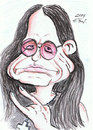 Cartoon: Ozzy Osbourne (small) by DeviantDoodles tagged caricature,music,famous,metal,rock,singer