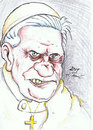 Cartoon: The Pope (small) by DeviantDoodles tagged caricature,religion,church,famous,vip