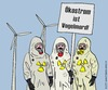 Cartoon: Die Besorgten (small) by thalasso tagged ökostrom akw kernenergie gau supergau japan fukushima besorgnis demonstranten schutzanzug vogelmord windkraft umweltschutz