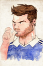 Cartoon: Andre Piere Gignac (small) by Thomas Berthelon tagged berthelon,thomas,gignac,worldcup,world,cup,2010,football,sport