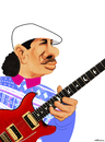 Cartoon: Carlos Santana (small) by Valbuena tagged musik,music,cartoon,caricature,santana,latin