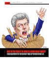 Cartoon: Chuck Daly Coach Zombie (small) by karlwimer tagged denver,nuggets,basketball,nba,detroit,pistons,chuck,daly,isaiah,thomas,zombie
