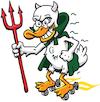 Cartoon: Devil Duck (small) by karlwimer tagged duck,devil,mascot