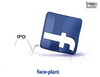 Cartoon: Face Plant (small) by karlwimer tagged ipo,facebook,zuckerberg,business,market,stockmarket