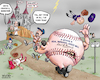 Cartoon: Frankenstein Baseball (small) by karlwimer tagged baseball,frankenstein,pitchers,monster,evil,scientist,igor,terror