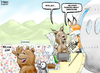 Cartoon: Frontier Homecoming (small) by karlwimer tagged business,economics,airlines,frontier,denver