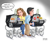 Cartoon: Infant NHL and NBA Seasons (small) by karlwimer tagged sports,nhl,nba,basketball,hockey,china,baby,carriage,pram
