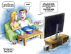 Cartoon: Scary Ads (small) by karlwimer tagged politics,economics,us,usa,movies,advertisements