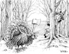 Cartoon: Thanksgiving Create Caption (small) by karlwimer tagged thanksgiving,turkey,axe,autumn
