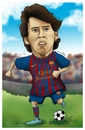 Cartoon: messi (small) by teukudq tagged 191011