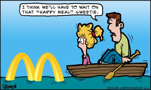 Cartoon: Horrible record floods! (medium) by GBowen tagged flood,happymeal,water