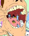 Cartoon: Mouth Hygene (small) by Sippin Juice tagged mouth,dentist,hygene,cleaning,bathroom
