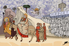 Cartoon: Flight from Egypt (small) by Ballner tagged egypt revolution giotto