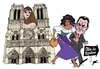 Cartoon: The story was changed (small) by Ballner tagged notre,dame,sarkozy,hunchback