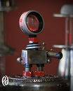 Cartoon: Junk Bot 1 (small) by birdbee tagged junk,robot,found,object