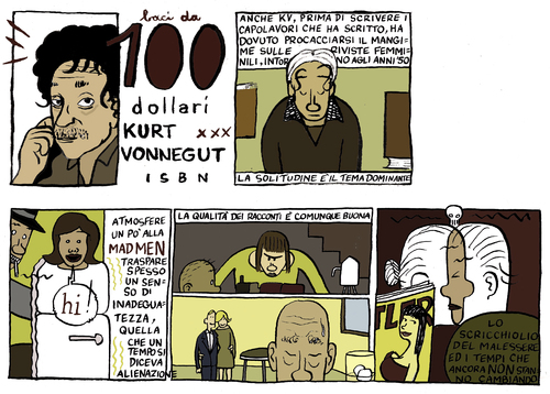 Cartoon: vonnegut (medium) by marco petrella tagged american,writers