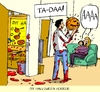 Cartoon: diy halloween horror (small) by leopold maurer tagged halloween,diy,horror,family,do,it,yourself,familie,hobby,blut,haushaltsunfall