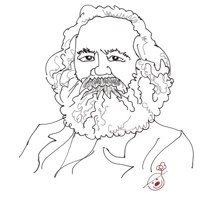 Cartoon: Marx (medium) by Mineds tagged marx