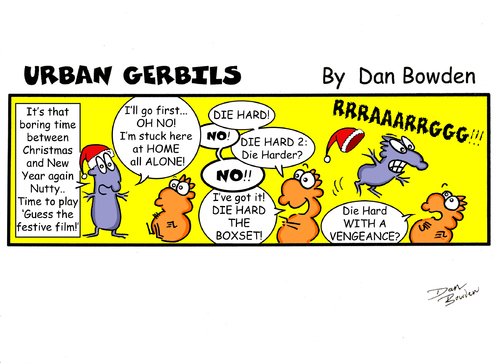 Cartoon: Urban Gerbils (medium) by Danno tagged newspaper,published,urban,gerbils,funny,humor,cartoon,strip,comic