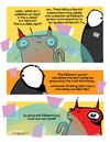 Cartoon: This is a joke... right? (small) by ericHews tagged graphic,novel,page,comic,earth,destruction,doom,destroy,apocalypse