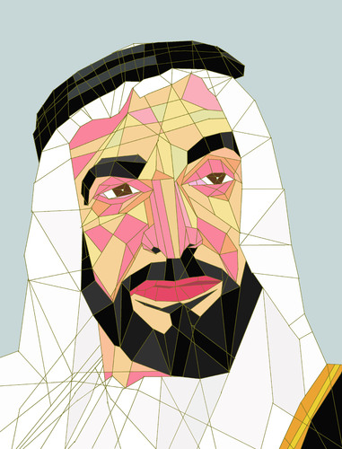Cartoon: Sheikh Zayed (medium) by omar seddek mostafa tagged zayed