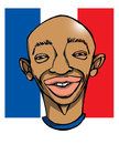 Cartoon: thiery henry (small) by wolfi tagged football,france,wm2010,southafrica,caricature
