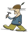 Cartoon: Horst mit dem Hammer (small) by timfuzius tagged hammer,hut,stiefel