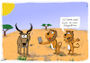 Cartoon: Safari Essens Foto (small) by Grikewilli tagged safari lion löwe antilope handy essens post instagram sozialmedia foto food smartphone wüste