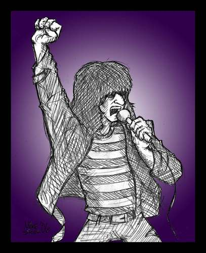 Cartoon: HEY-HO ! LETS GO !! (medium) by Mike Spicer tagged mike,spicer,caricature,cartoon,joey,ramone