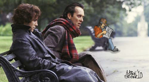 Cartoon: Withnail and I and Me (medium) by Mike Spicer tagged mike,spicer,withnail,cartoon,collage,caricature,parody,satire,and