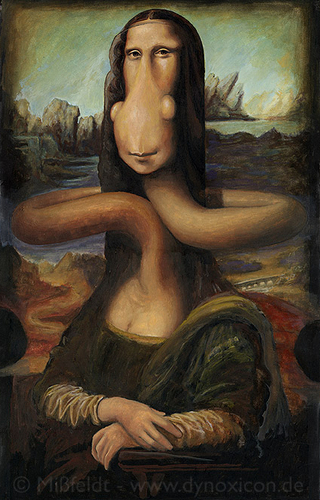 Cartoon: Mona Lisa (medium) by M Missfeldt tagged leonardo,da,vinci,renaissance,smile,woman,art,history