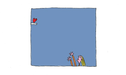 Cartoon: Looking For Love (medium) by Kerina Strevens tagged reach,heart,love
