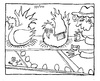 Cartoon: Battery Hens (small) by Kerina Strevens tagged hens,eggs,chicks,batteries,power,farmer