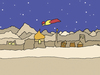 Cartoon: Flying (small) by ringer tagged flying,desert,night,stars,mountains,sand