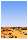 Cartoon: OUTBACK (small) by ASRA tagged motorrad,australien,mobbing,opale,wüste,aboriginals