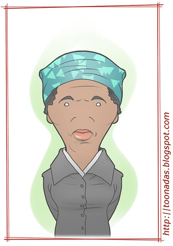 Cartoon: Harriet Tubman (medium) by Freelah tagged harriet,tubman,slavery,abolitionism