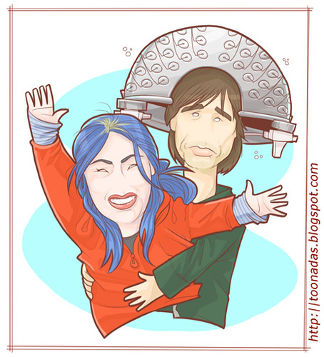 Cartoon: Joel and Clementine (medium) by Freelah tagged kate,winslet,jim,carrey,eternal,sunshine,of,the,spotless,mind