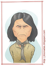 Cartoon: Geronimo (small) by Freelah tagged geronimo,apache
