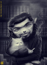 Cartoon: Julio Cortazar (small) by Freelah tagged julio cortazar argentine storyteller short story books