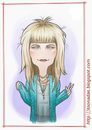 Cartoon: Mette Lindberg (small) by Freelah tagged mette,lindberg,asteroids,galaxy,tour