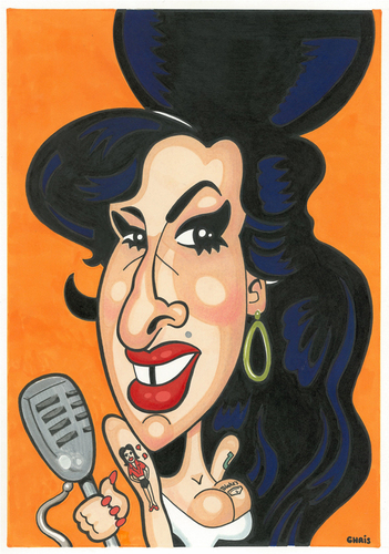 Cartoon: Amy Winehouse (medium) by Ca11an tagged amy,winehouse,caricature