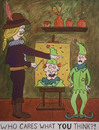 Cartoon: Portrait of a Jester (small) by David_Bromley tagged jester,studio,painter,portrait,renaissance