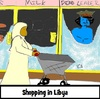 Cartoon: Shopping (small) by Mewanta tagged libya,dead,death,nato,un,rebels,gadaffi
