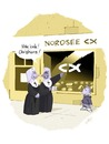 Cartoon: Nordsee ist Mordsee (small) by Weyershausen tagged nonnen,christen,nordsee,fast,food