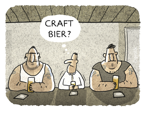 Cartoon: ... (medium) by markus-grolik tagged grolik,cartoon,zeitgeist,mode,kult,stylish,kultig,trend,craft,craftbier,beer,bier,bier,beer,craftbier,craft,trend,kultig,stylish,kult,mode,zeitgeist,cartoon,grolik